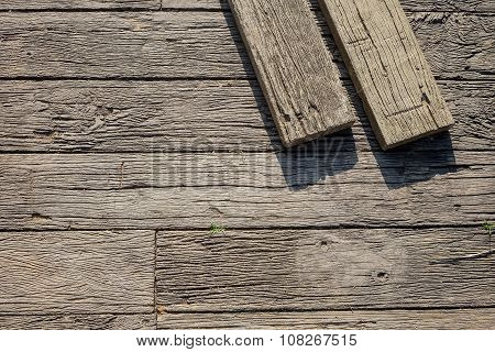 Wood Floor Pattern with Timbers
