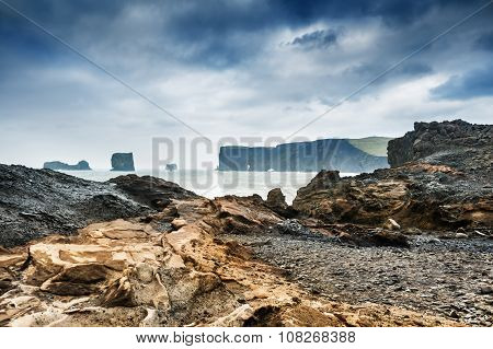 Storm On The Rocky Coast Of Atlantic Ocean