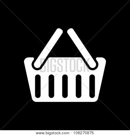 The basket shoping icon. Shop Basket symbol. Flat