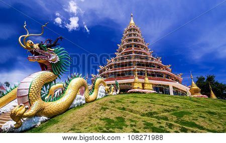 Wat Hyua Pla Kang Chinese temple in Chiang Rai Thailand This is the most popular temple in Chiang Ra