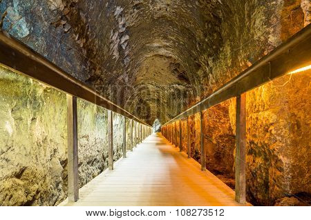 Ancient Tunnel Of Megiddo, Israel