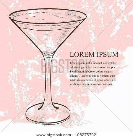 Cocktail Espresso Martini scetch