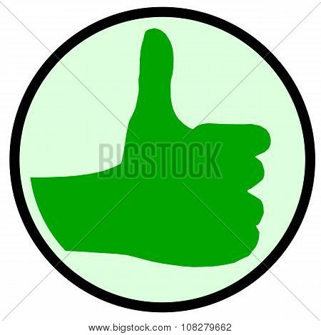 The Green Thumbs Up Sign