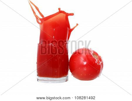 Tomato Juice On White