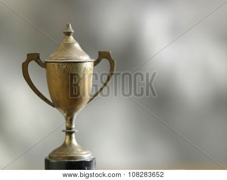 close up of old trophy