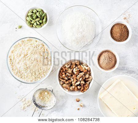 Ingredients Of Indian Sweets Besan Ladoo