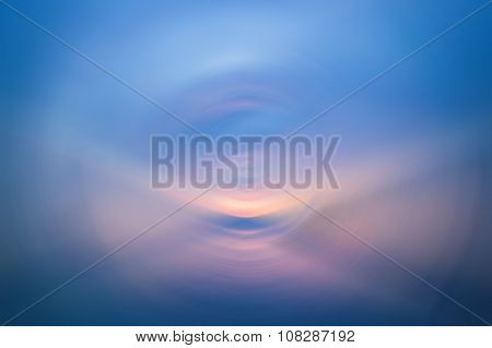 Abstract Radial Blur Background From Sea