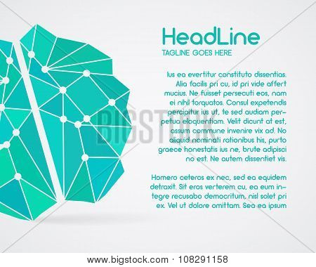Brainstorm, brain, creation and idea poster template and elements. Brochure design. Solve problems,