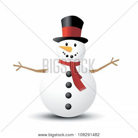 Christmas Snowman vector illustration art