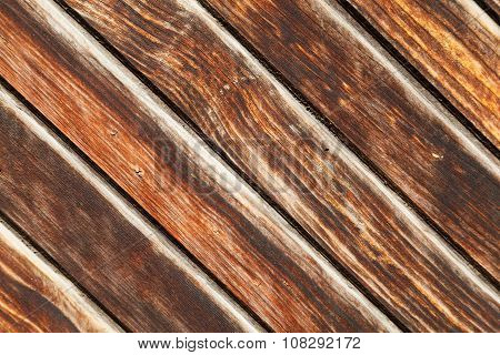 Surface Of Old Wooden Brown Planks
