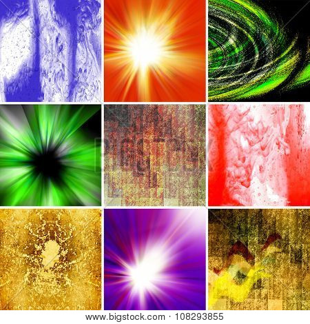 Image of different abstract backgrounds