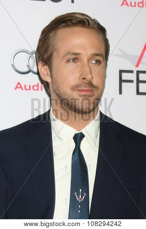 LOS ANGELES - NOV 12:  Ryan Gosling at the AFI Fest 2015 - Presented by Audi - The Big Short Gala Screening at the TCL Chinese Theater on November 12, 2015 in Los Angeles, CA
