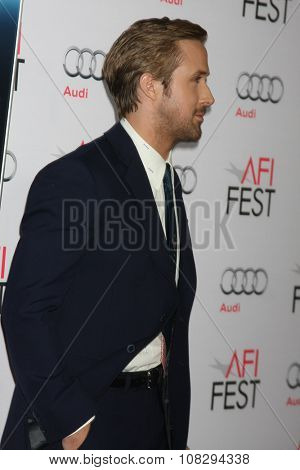LOS ANGELES - NOV 05:  Ryan Gosling at the AFI Fest 2015 - Presented by Audi - The Big Short Gala Screening at the TCL Chinese Theater on November 05, 2015 in Los Angeles, CA
