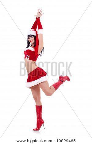 Chica como bailes de Santa