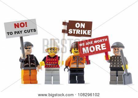 Workers On Strike Concept