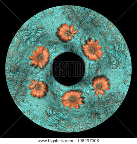 Flower background leather tile