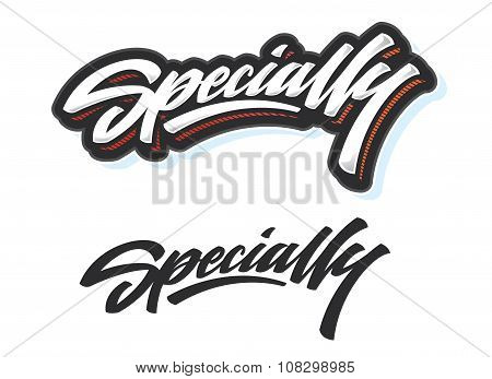 Specially type print