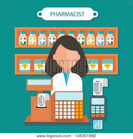 Pharmacist Concept Flat Design