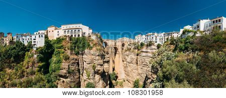 The Puente Nuevo or New Bridge in Ronda, Spain
