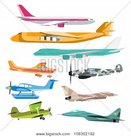 Civil aviation travel passanger air plane vector illustration
