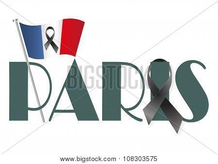 Paris Flag Ribbon