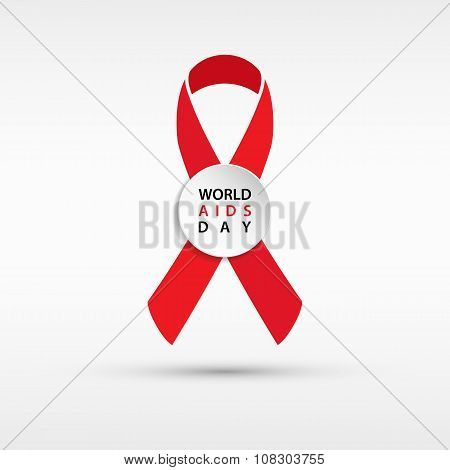 AIDS awareness ribbon. World AIDS Day sign.