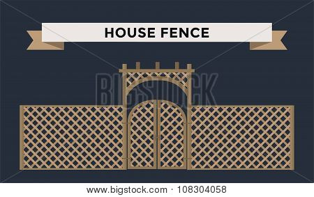 Metallic fence isolated on night background