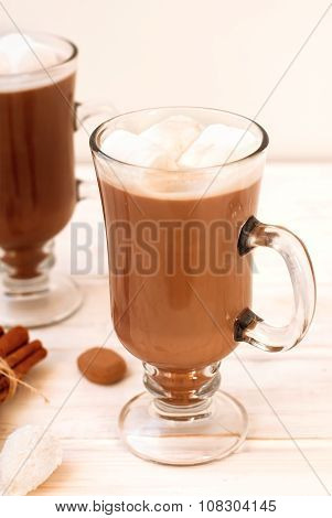 Cocoa Drink With Marshmellows