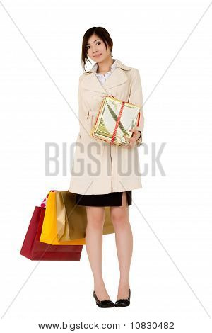 Business Woman With Gifts