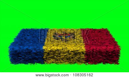 Flag of Moldova, Moldovan Flags made from clouds