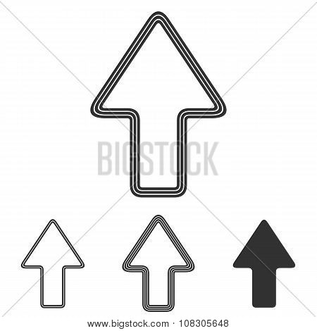 Line arrow logo design set