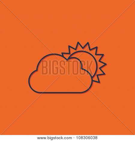 Vector cloudness icon