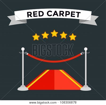VIP zone red carpet illustration