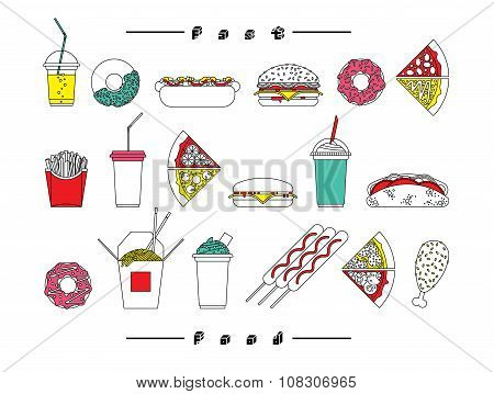 Fast Food Set White