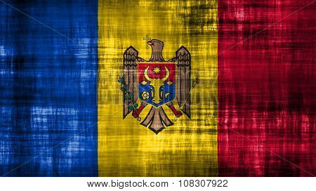 Flag of Moldova, Moldovan Flags painted on paper texture