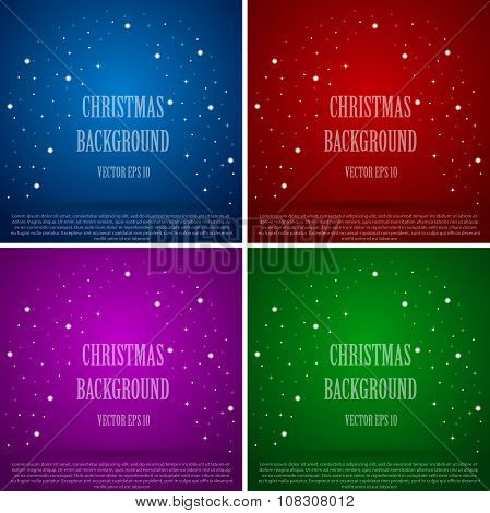 Set. Vector abstract background. Christmas and New Year. Mosaic, sequins, glitter, sparkle.