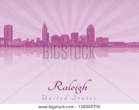 Raleigh Skyline In Purple Radiant Orchid