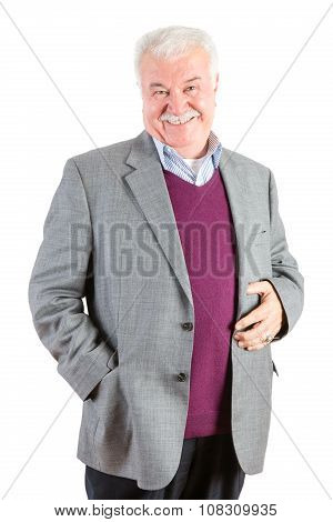 Cheerful Senior Businessman Looking At The Camera