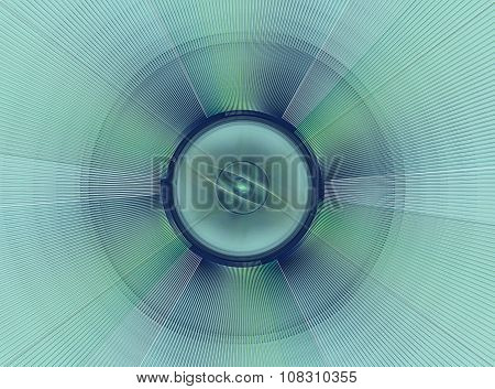 Abstract fractal green checkered background