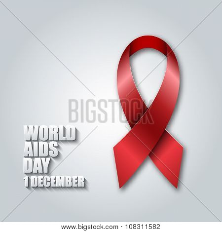World Aids Day concept. Red ribbon.
