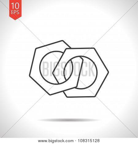 Vector nut icon