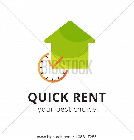 Vector modern apartment rent logo