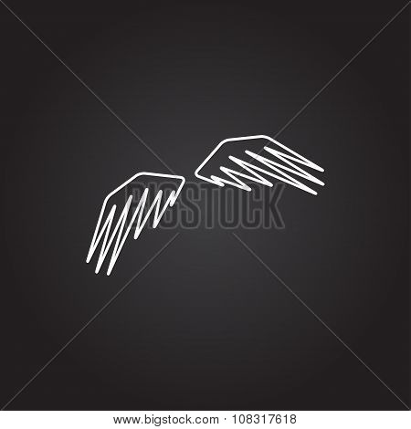 Vector wings icon