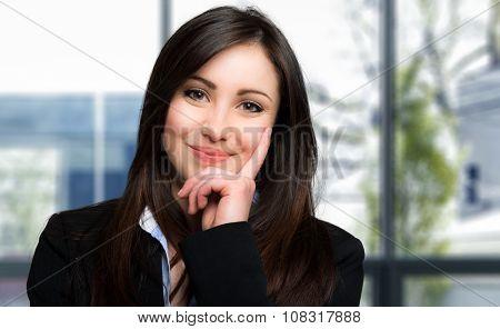 Charming young secretary portrait