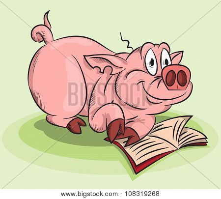 A Pig With A Book