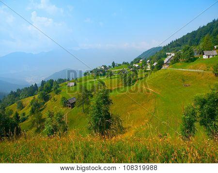 Alpine landscape in Slovenia