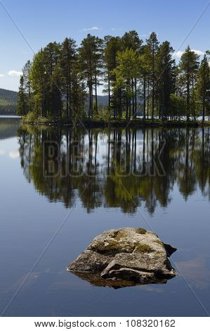 Lake with reflection