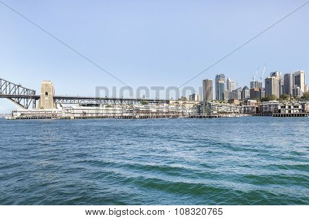 Sydney Walsh Bay and cityscape
