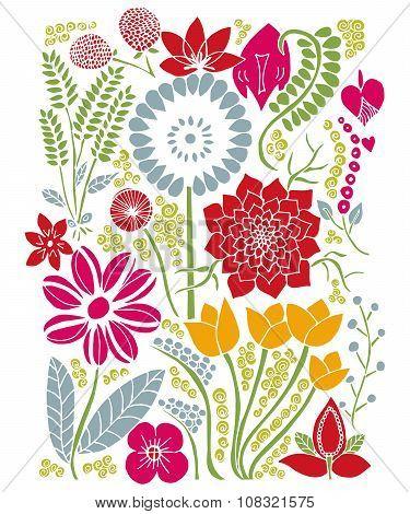 Floral Background Natura Summer Design