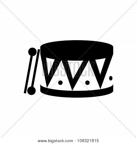 Drum black icon